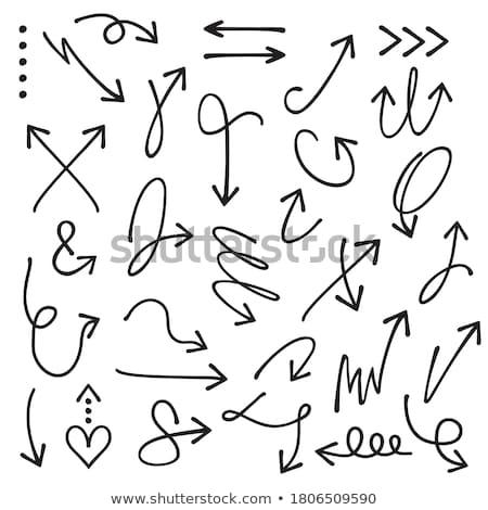 hand drawn abstract curvy arrow set Stock photo © SArts