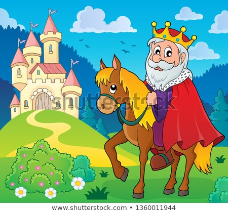 King on horse theme image 5 Stock photo © clairev