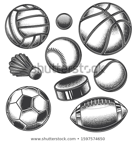 Badminton labels and icons set pattern Foto stock © netkov1