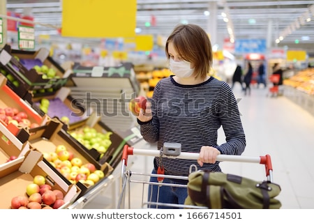 Stock photo: Supermarket People, Shopping Vegetables Store