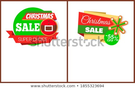 Christmas Sale Price Tag Santa Belt and Snowflake Foto stock © robuart