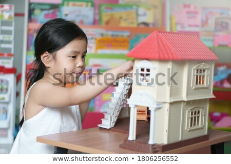 óvoda szett lány pénz siker vektor Stock fotó © toyotoyo