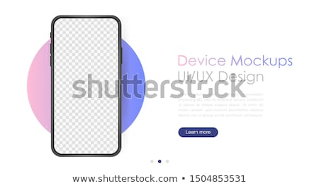 Kék okostelefon vektor vázlat izolált fehér Stock fotó © tashatuvango
