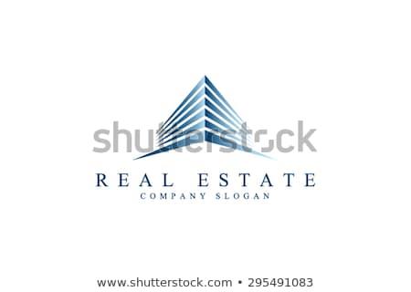 Ingatlan felhőkarcoló grafikai tervezés sablon vektor város Stock fotó © haris99