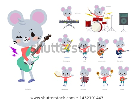 animal mouse boy_pop music Stock photo © toyotoyo