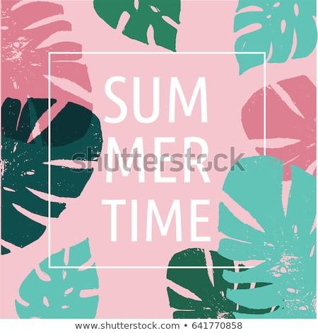 Vendita banner foglia di palma isolato gradiente Foto d'archivio © barbaliss