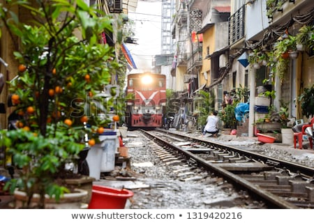 train crossing through city Stock photo © bluering
