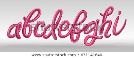 Character H on white background. Isolated 3D illustration stock photo © ISerg