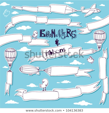 Business Advertising Title Ribbon Doodle Vector Stock photo © pikepicture