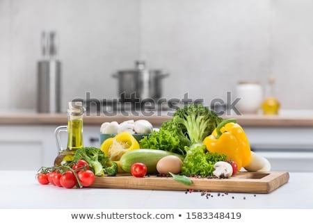 Edények konyhapult vár Stock fotó © Kzenon