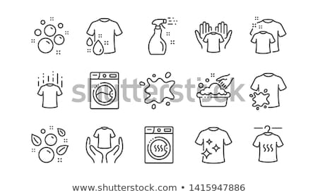 Laundry Service Washed T-shirt Vector Line Icon Stock photo © pikepicture