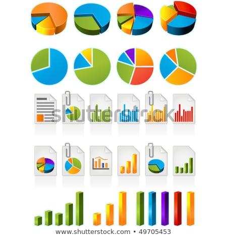 Green business Pie Chart Icon Stock photo © kbuntu