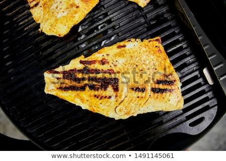 гриль филе газ гриль морепродуктов барбекю Сток-фото © Illia