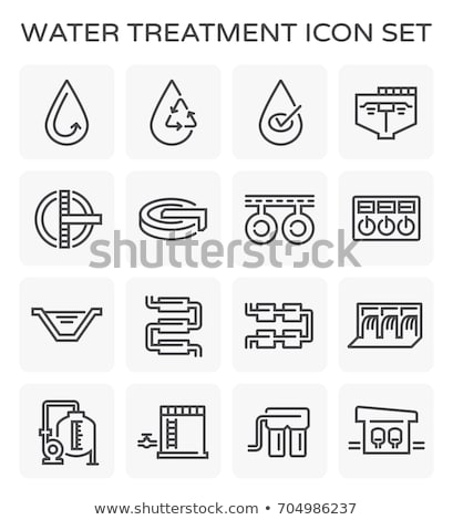 Water Treatment Industrial Building Vector Icon Stock photo © pikepicture