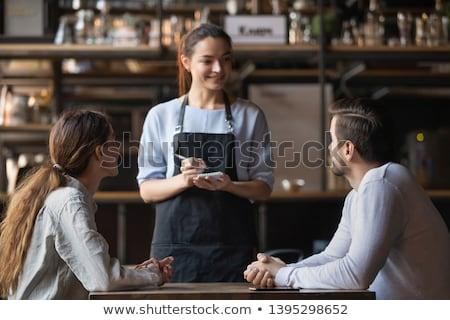 женщины · официантка · напитки · бизнеса · женщину · собака - Сток-фото © iko