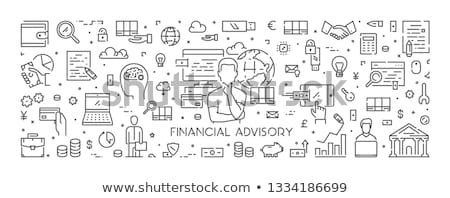 Financière conseiller atterrissage page Finance analyste Photo stock © RAStudio