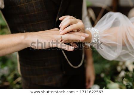 handen · bruid · witte · jurk · bloem · bruiloft - stockfoto © ruslanshramko