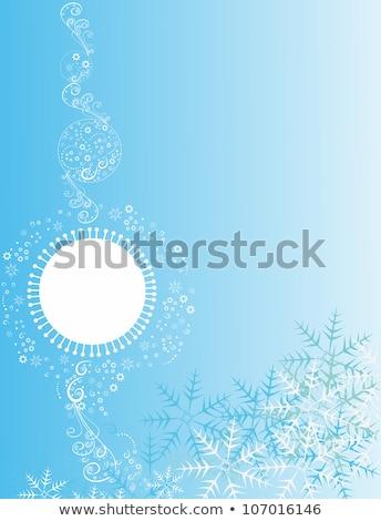 Flocons de neige gradient Noël nouvelle année résumé en demi-teinte Photo stock © SwillSkill