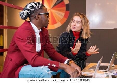 Mądry student coś Afryki Zdjęcia stock © pressmaster