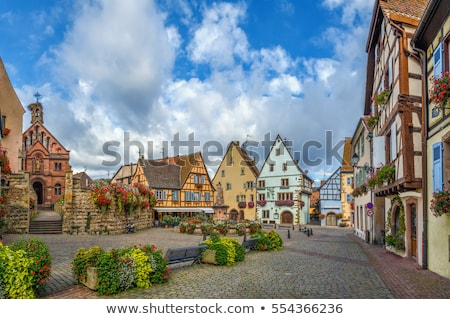 Main square in Eguisheim, Alsace, France Stock photo © borisb17