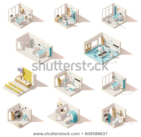 Doctor in Hospital Room with MRI Machine Vector Stock photo © robuart
