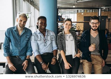 Estratégia trabalho em equipe bem sucedido startup homem Foto stock © robuart