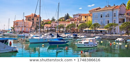 Idyllic mediterranean waterfront in Volosko village, Opatija riv Stock photo © xbrchx