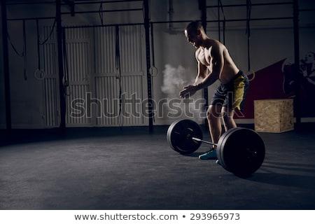 Attrattivo concentrato giovani montare pronto Foto d'archivio © deandrobot