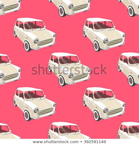 Car Wash Auto Service Seamless Pattern Vector Stock photo © pikepicture