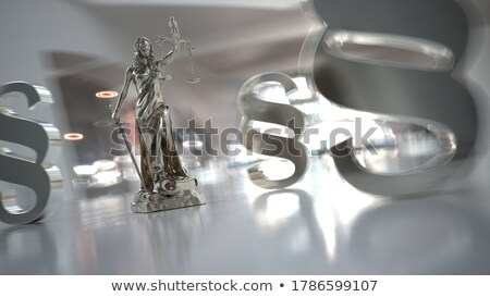 Lady justice statue with paragraphs in the modern office Stock photo © limbi007