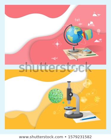 география мира информации земле планеты школы Сток-фото © robuart