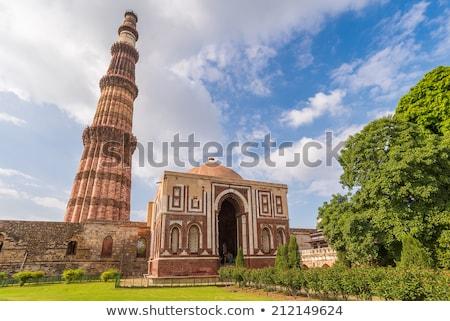 Delhi Hindistan tuğla minare dünya ilk Stok fotoğraf © photoblueice
