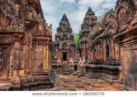 Camboja angkor templo edifício parede arte Foto stock © raywoo