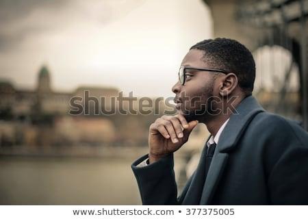 thinking man in glasses Stock photo © Paha_L