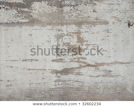 White flaky paint on a old weathered wooden fence. Stock photo © latent