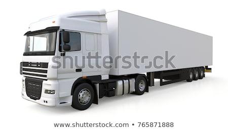 транспорт · грузовика · белый · бизнеса · дороги · шоссе - Сток-фото © njaj