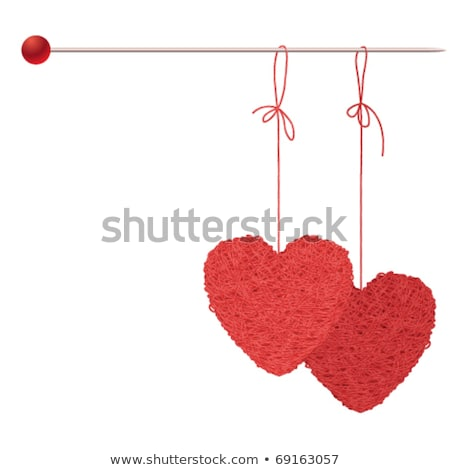 knit two red heart Stock photo © RuslanOmega