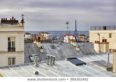 красивой парижский улиц мнение небе здании Сток-фото © ilolab