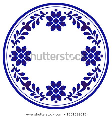 Porcelán kínai festett izolált fehér kéz Stock fotó © happydancing