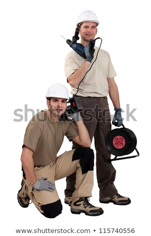 tradespeople posing with their tools stock photo © photography33