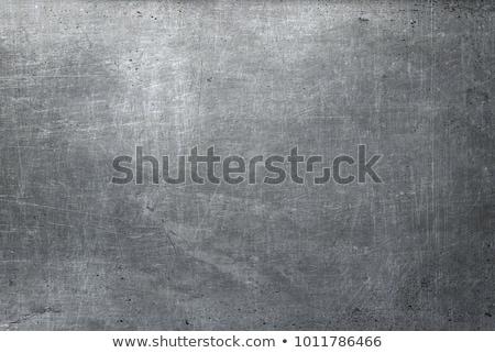 grunge · szürke · fekete · fém · tányér · szivárgás - stock fotó © imaster