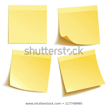 Yellow post note with white background Stock photo © gladiolus