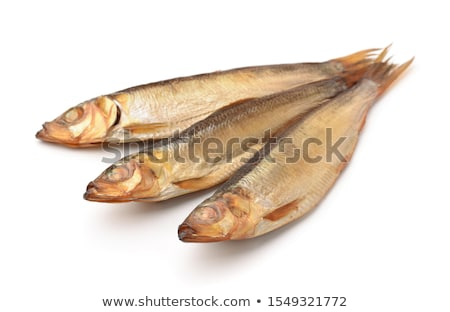 smoked sprat appetizing snack on white stock photo © ozaiachin