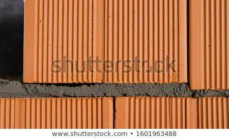 Bricklayer tapping down a block wall Stock photo © photography33