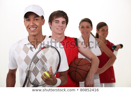 Teenagers dressed for different sports Stock photo © photography33