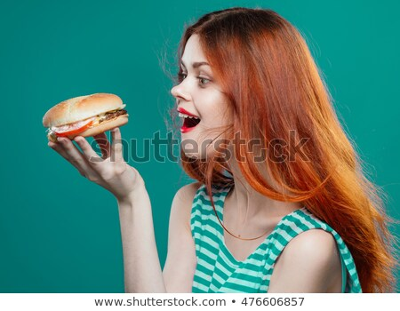 Girl looking burger Stock photo © photography33