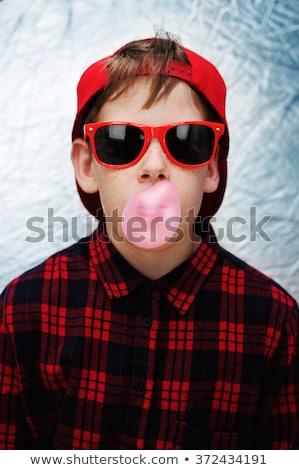 ragazzo · indossare · baseball · sport · bambino · arte - foto d'archivio © zzve