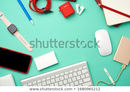 Golden wireless mouse Stock photo © magraphics