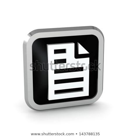 документа икона серебро изолированный белый воды Сток-фото © zeffss