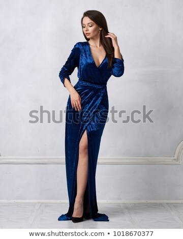 charming young woman in evening dress stock photo © acidgrey